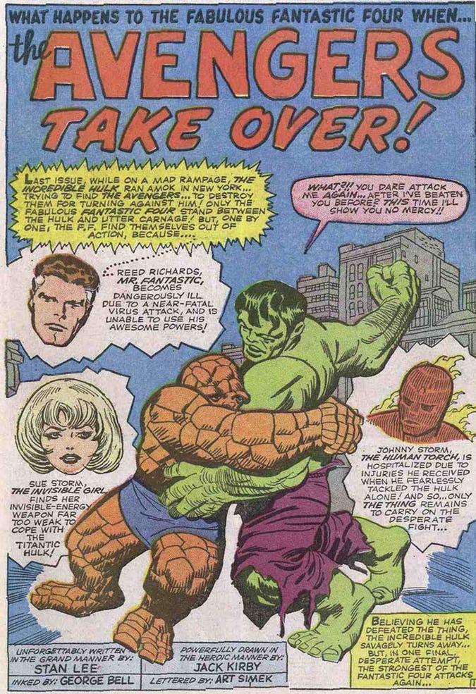 In Avengers vs Fantastic Four, he has five toes again.