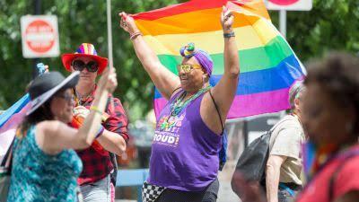 A Pride Parade happening