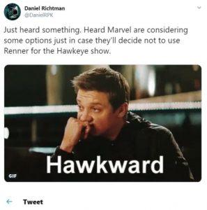 David Richtmann Tweet on Hawkeye