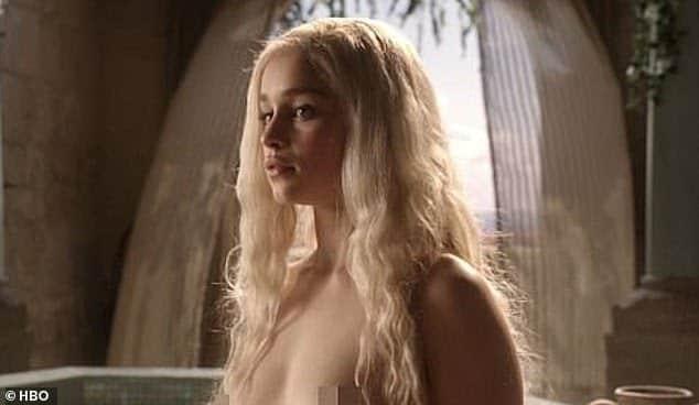 Emilia Clarke felt like she should approach the nudity like it was just a job. Pic courtesy: dailymail.co.uk