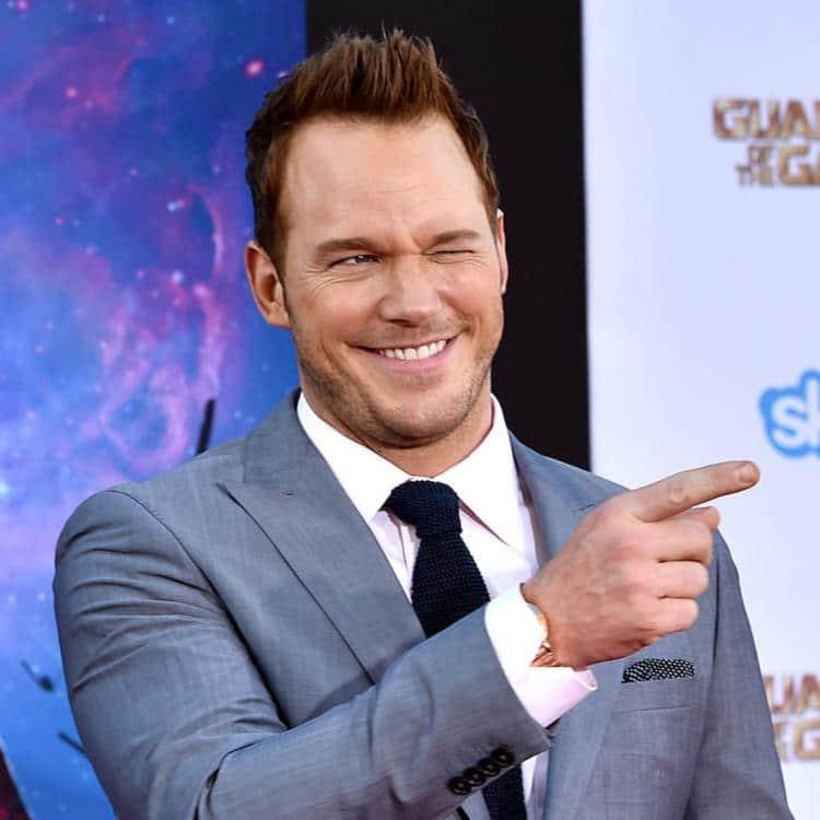 Chris Pratt has a little laugh due to captain america. Pic courtesy: pinkvilla.com
